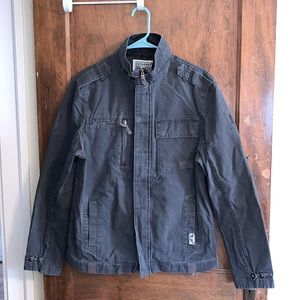 Converse One Star gray canvas members only jacket